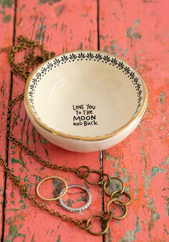 Trinket Bowl Moon & Back