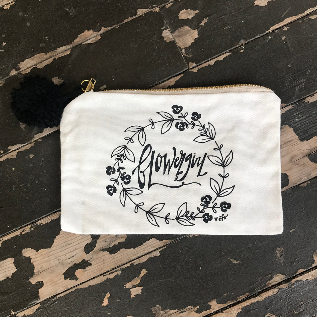 flowergirl cosmetic bag