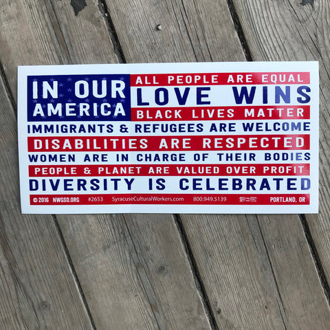 In Our America Sticker