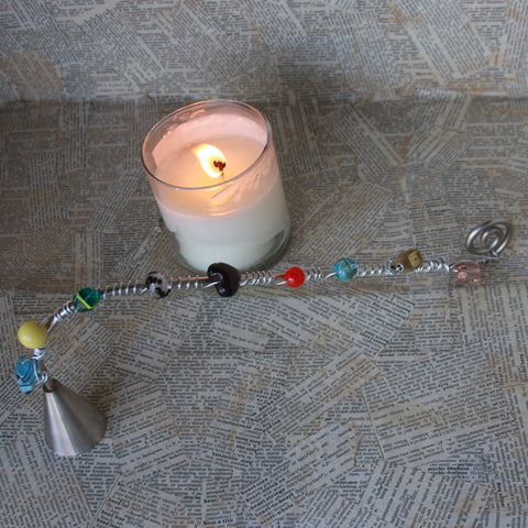 beaded wire candle snuffer