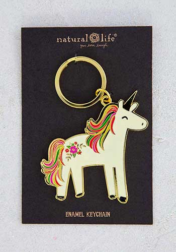 Key Chain - Unicorn Enamel