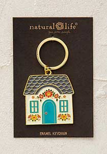 Key Chain - Cottage Enamel