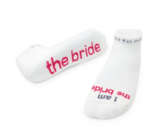 i am the bride/the groom socks