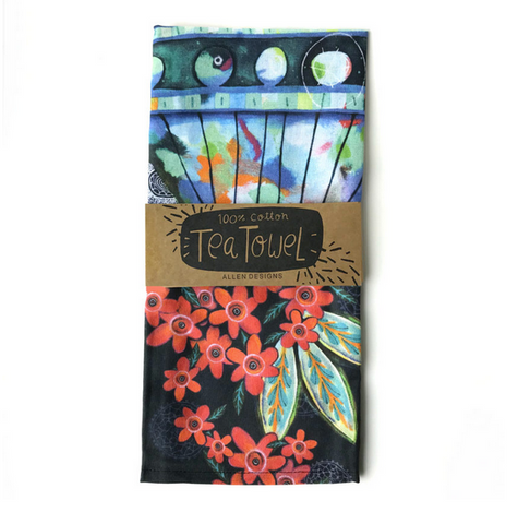FlowerBlast Tea Towel