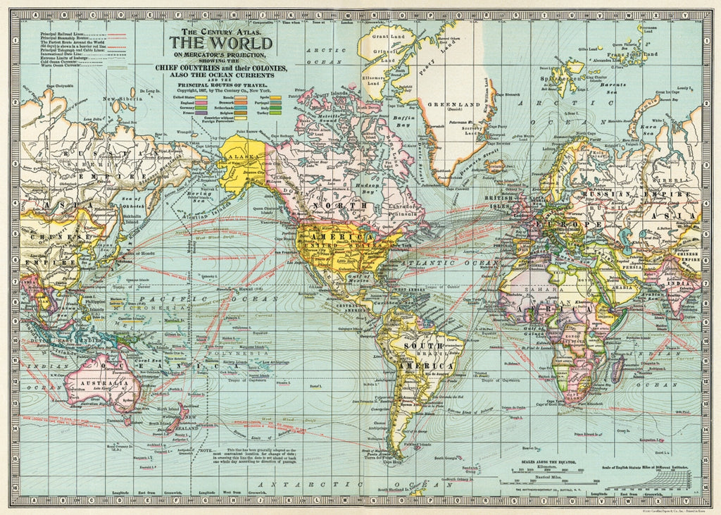 World Map Poster/Wrap