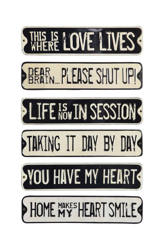 Metal Wall Quote Signs