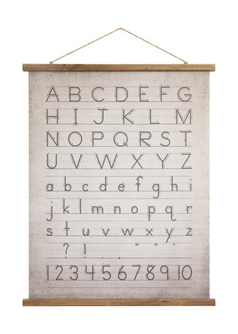 Canvas Scroll of Alphabet & Numbers