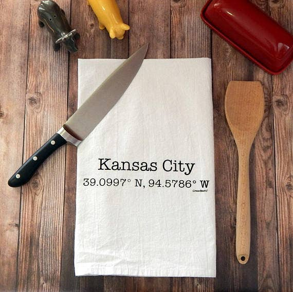 Kansas City Coordinates Tea Towel