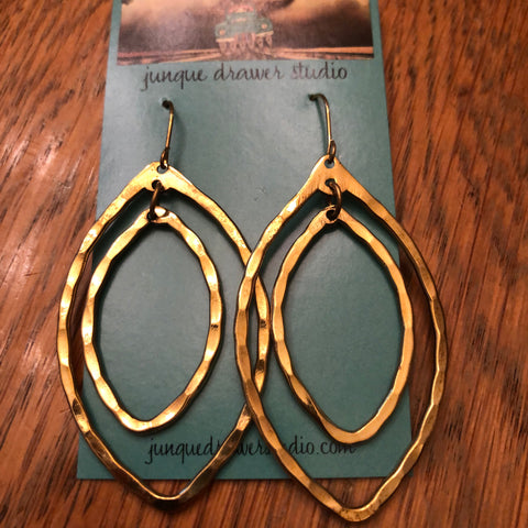 Teardrop double earrings
