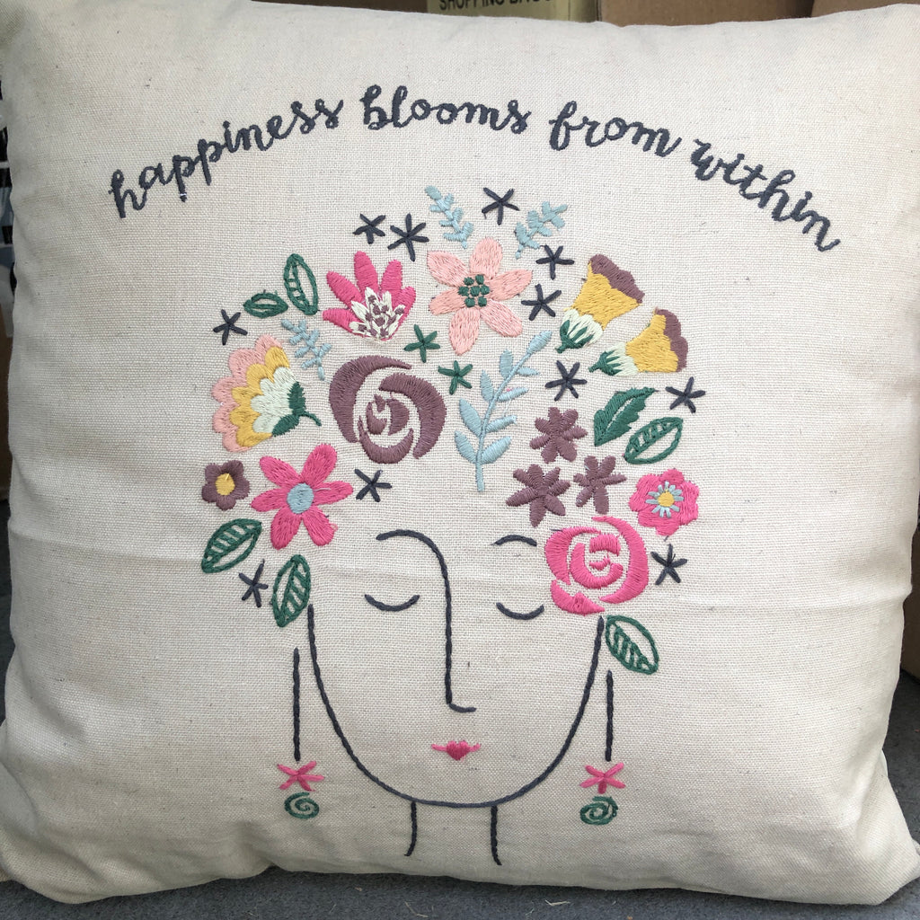 Happiness Blooms From Within Pillow