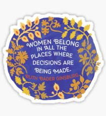Sticker - Women Belong In All the Places - Ruth Bader Ginsburg