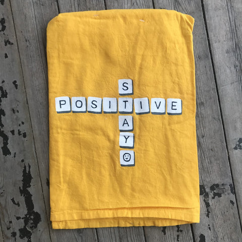 Stay Positive Dish Towel