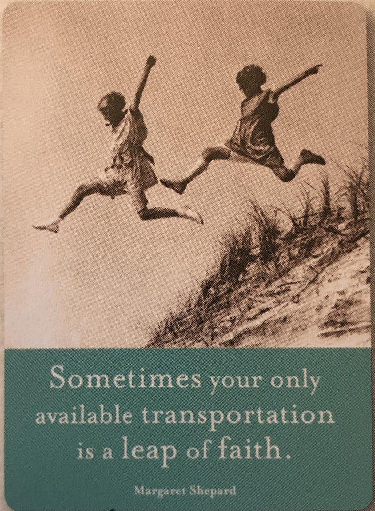 Magnet: Sometimes your only available transportation is a leap of faith.