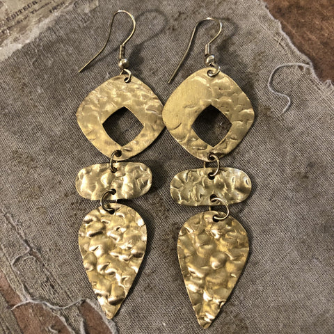Matte Gold Artsy Earrings
