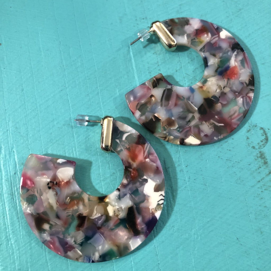 Multi-Color Lucite Earrings