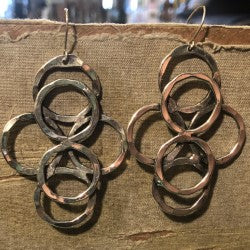 Six Circle Earrings