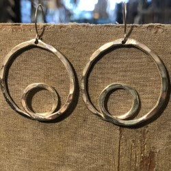 Silver Loop-tee-loop Earrings