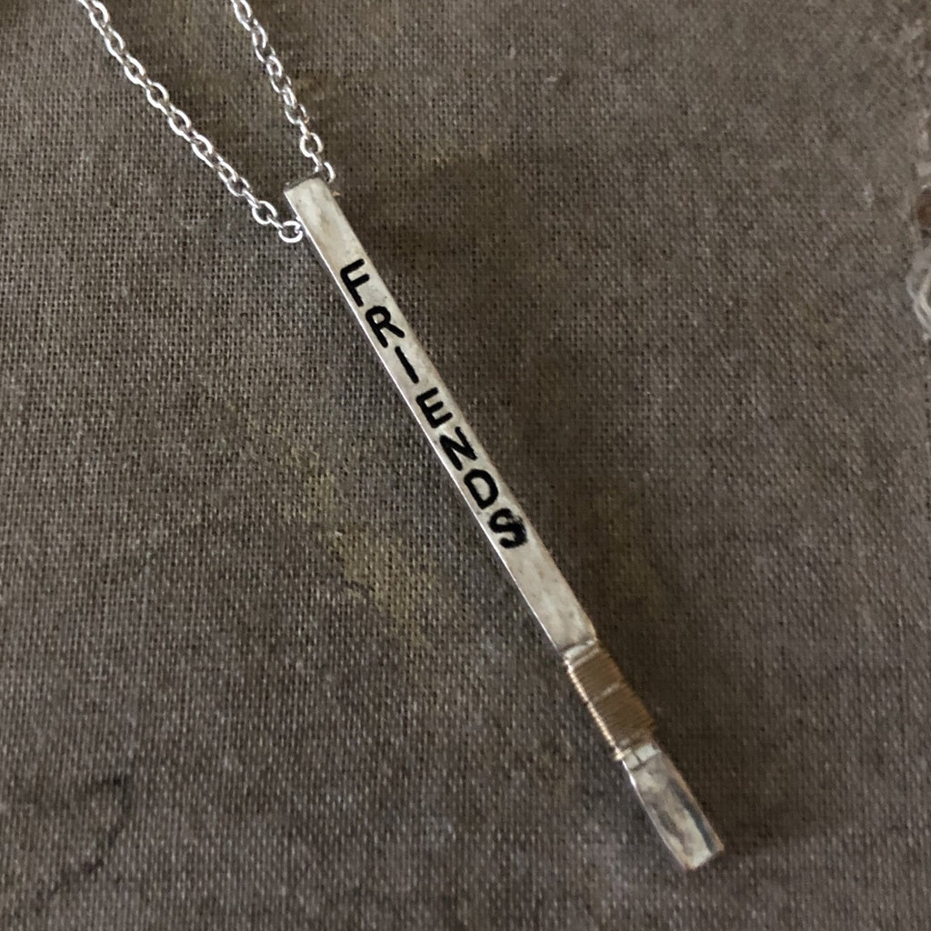 FRIENDS bar necklace