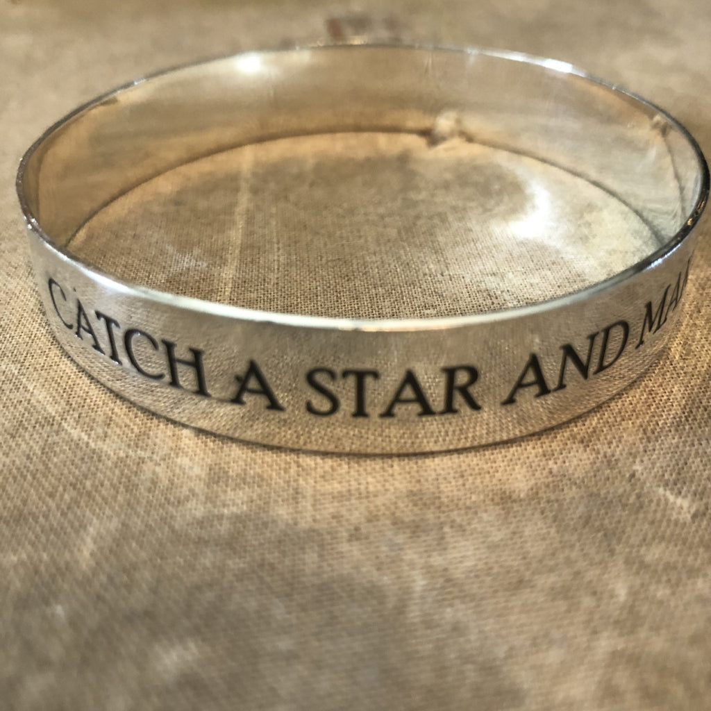 Catch A Star & Make A Wish Bangle Bracelet