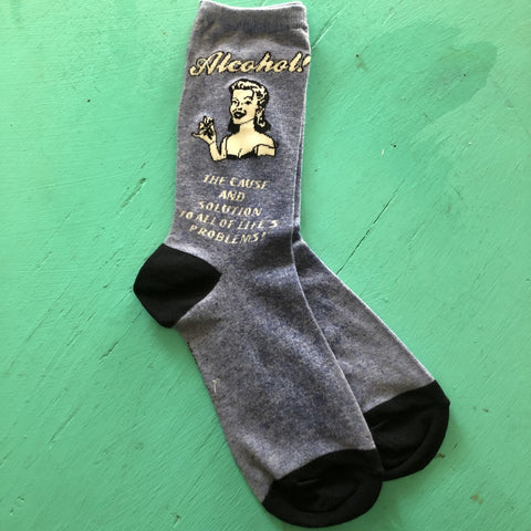 Alcohol Cause & Solution Socks