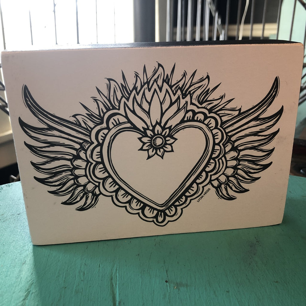 Milagro Heart Coloring Sign Block