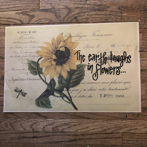 "Vintage Inspired Papers - 11"" x 17"" ... we can do custom words on them!"