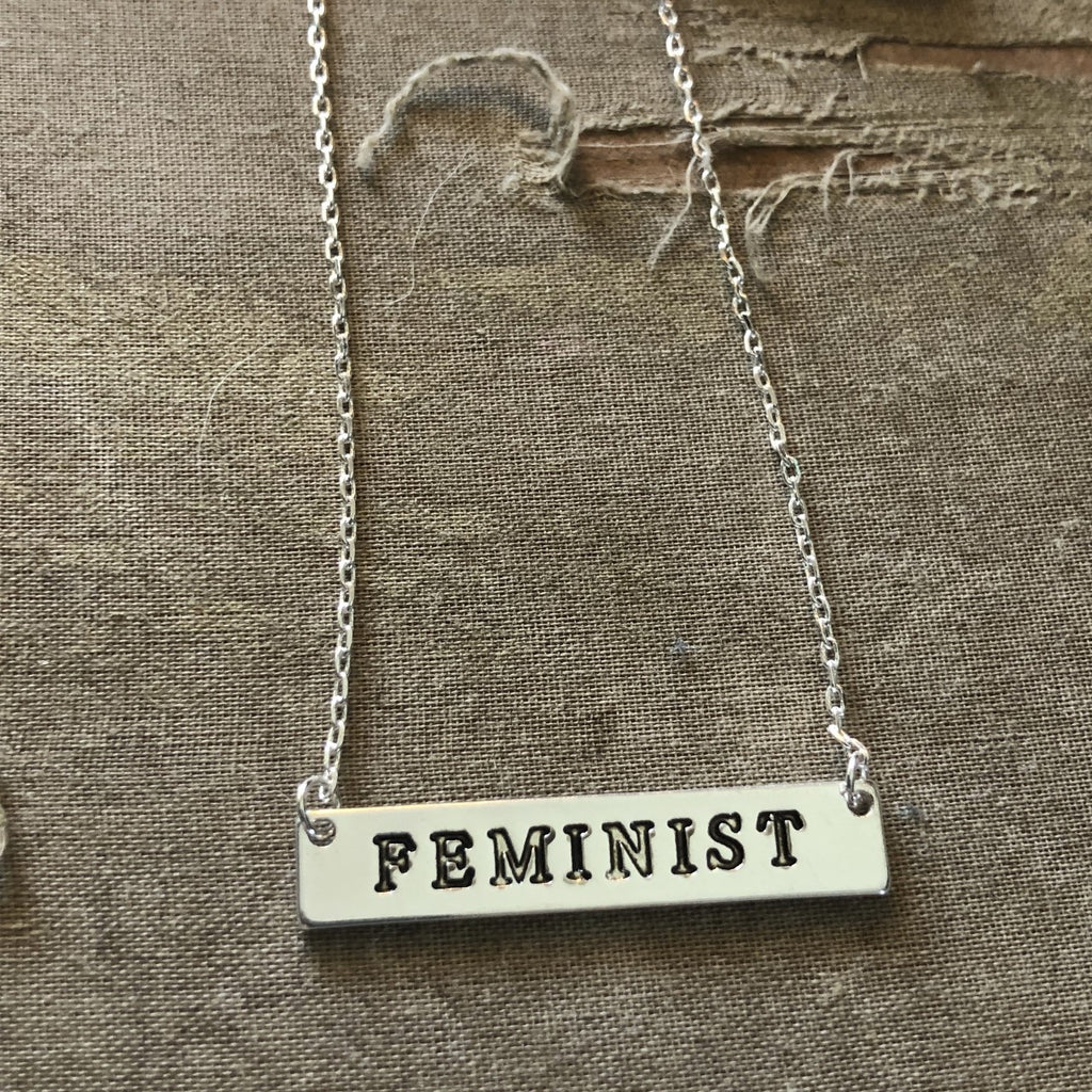 Feminist Bar Necklace