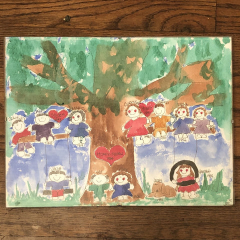 Family Tree - Watercolor Personalized