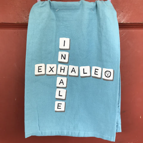 Inhale Exhale Dish Towel