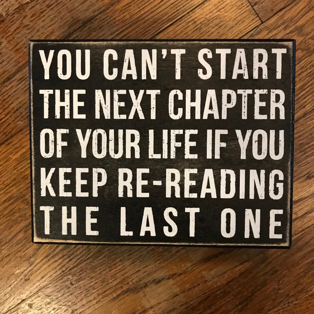 Next Chapter Box Sign