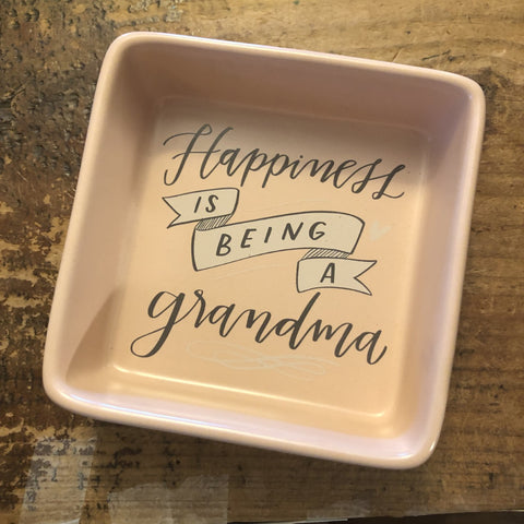 Happiness is Being a Grandma trinket tray
