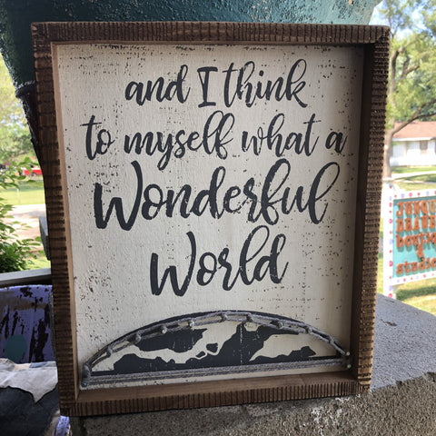 Wonderful World Sign