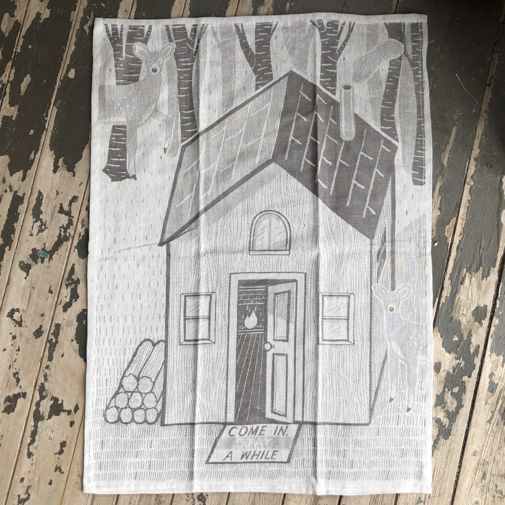 Come In and Stay Awhile Dish Towel