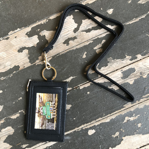 I.D. Lanyard w/ card slots & zip compartment