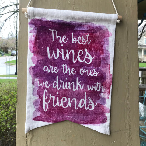 The Best Wines Canvas Banner