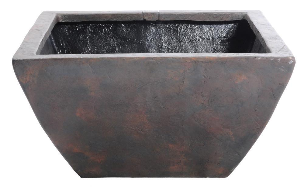Aquascape Fountains & Pond Decor Square Textured Gray Slate 24 Inch Aquascape Patio Pond - Small & Medium