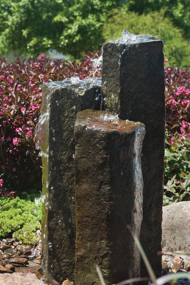 "Aquascape Fountains & Pond Decor Natural Mongolian (24"", 30"" & 36"" Aquascape Set of 3 Basalt Columns"