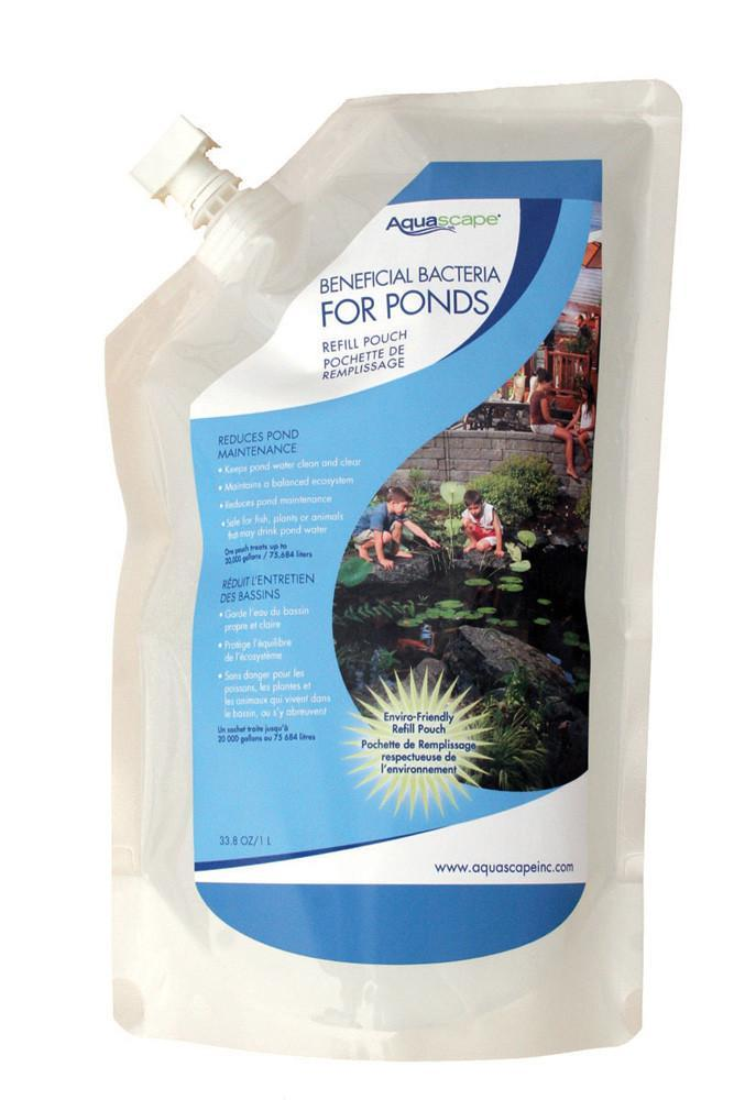 Aquascape Water Treatments 1 ltr refill pouch Aquascape Beneficial Bacteria for Ponds/Liquid