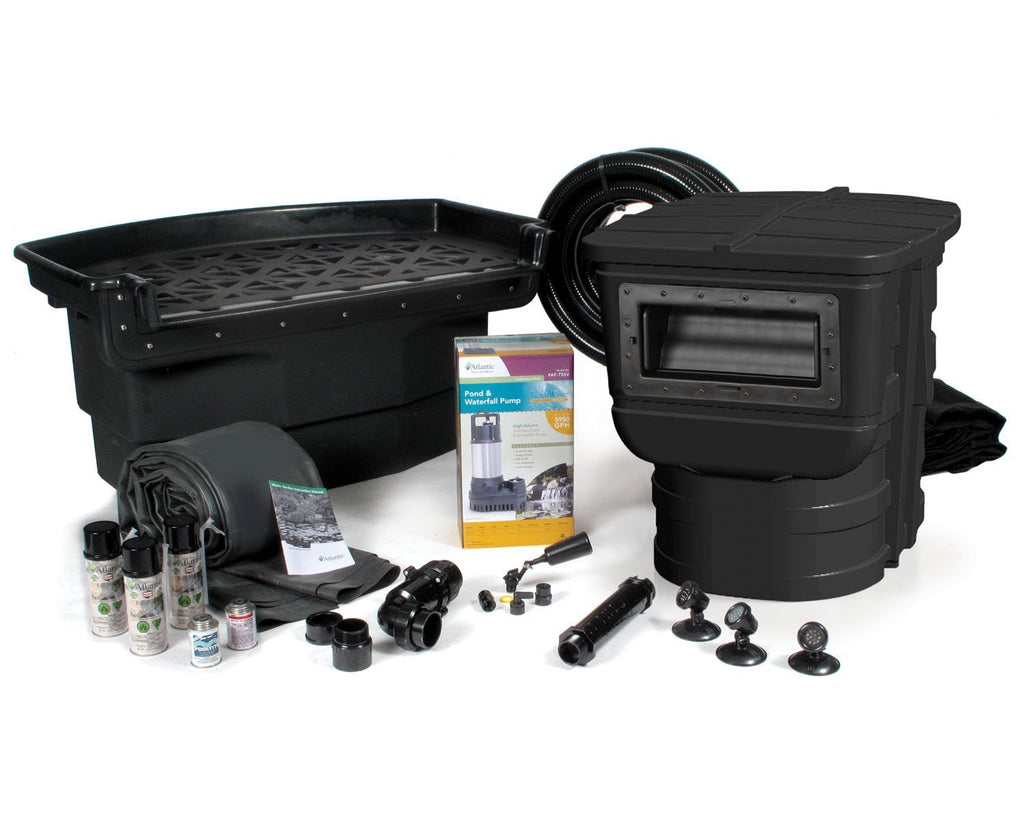 Atlantic Water Gardens Pond Kits 16 x 16 w/ PAF-75 (TidalWave Pump 1 HP) Atlantic Water Gardens Large Pond Kits