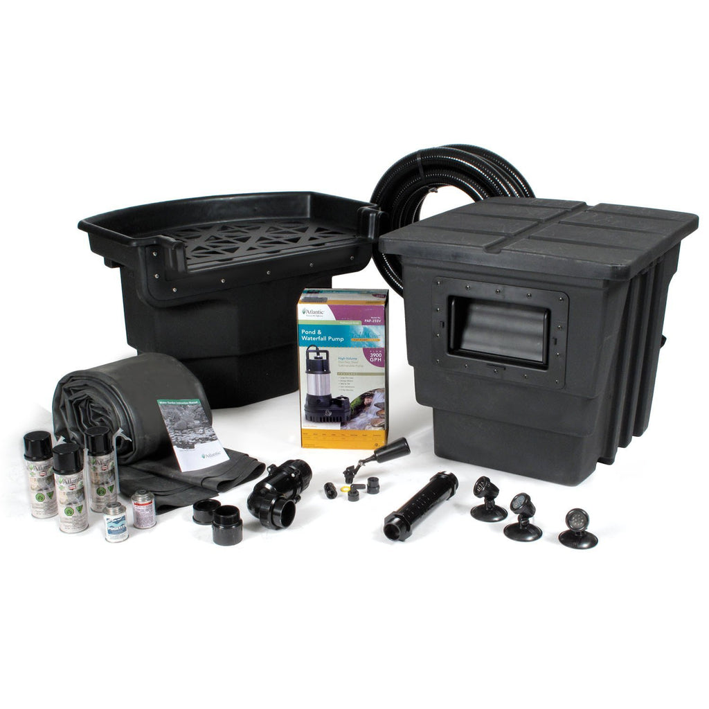 Atlantic Water Gardens Pond Kits 16 x 16 w/ PAF-25 (TidalWave Pump 1/3 HP) Atlantic Water Gardens Medium Pond Kits