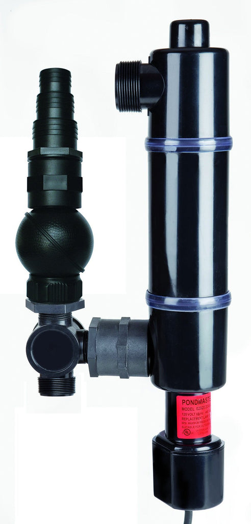 "Danner Manufacturing Inc. Filtration 20W Skimmer UV Clarifier w/ 2 Inch Couplings Danner Pondmaster Skimmer UV Clarifier with 2"" Couplings"