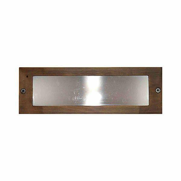 Universal Lighting Pond Lighting/Foggers Brass Step Light Frosted Lens - Bronze Universal Lighting Step Light Cover - Brass