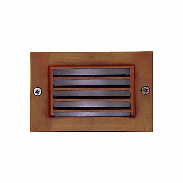 Universal Lighting Pond Lighting/Foggers Small Brass Step Light Louvered - Bronze Universal Lighting Step Light Cover - Brass