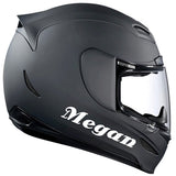 Personalized Name for Helmet Sticker