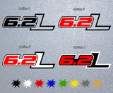6.2 L Ford Logo Sticker