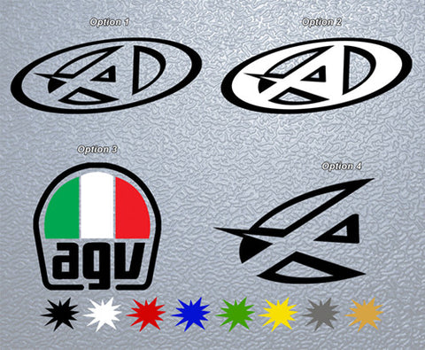 AGV Logo Sticker (x1)