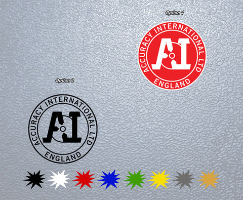 Accuracy International Logo Sticker (x2)