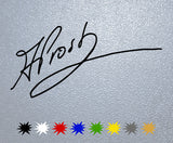 Alain Prost Signature Sticker