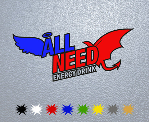 All Need Energy Drink Logo Sticker (x1)