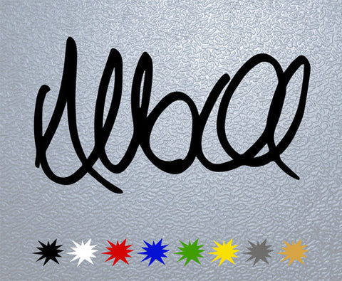 Allan McNish Signature Sticker (x1)